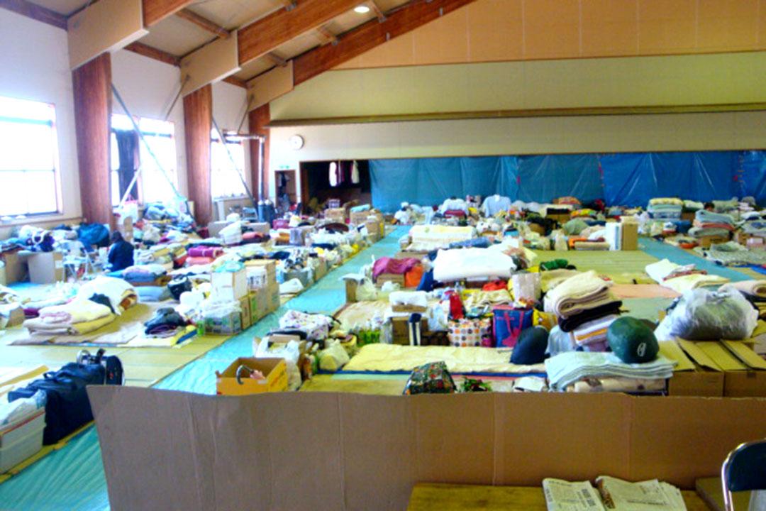 岩手県大槌町の避難所
